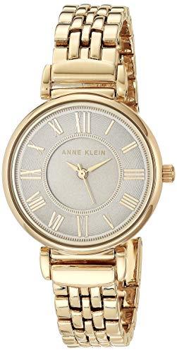Anne Klein Women's AK/2158GYGB Gold-Tone Bracelet Watch