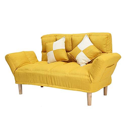 KILOL Sofá reclinable Plegable Multifuncional, sofá Perezoso, sofá Doble Individual, sofá Cama extraíble y Lavable de 5 velocidades Ajustable libremente, sofá de Tela para Dormitorio de apartamento