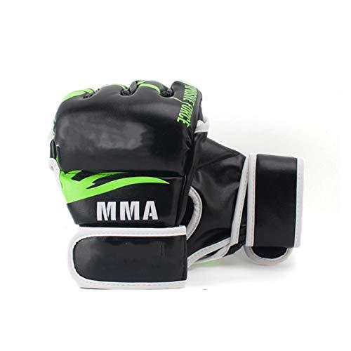 MissLi Guante De MMA De Medio Dedo para Hombre, Boxeo, Karate, Muay Thai, Equipo De Entrenamiento Sanda De Lucha Libre (Color : Green)