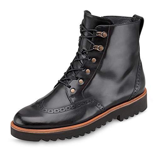 Paul Green 9644 015 Damen Sportiver Boots aus Glattleder Lederinnenausstattung, Groesse 36, schwarz