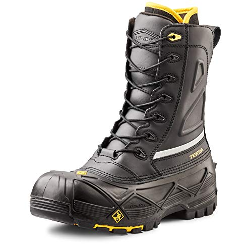 Terra Men's Crossbow Industrial & Construction Shoe, Black, 12 M US