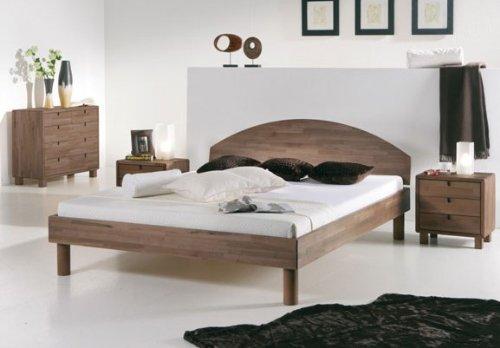 Stilbetten Bett Holzbetten Pirno Buche weiß lasiert 180x200 cm