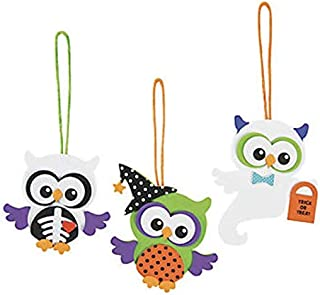 (24) Foam Monster Owl Ornament Craft Kits ~