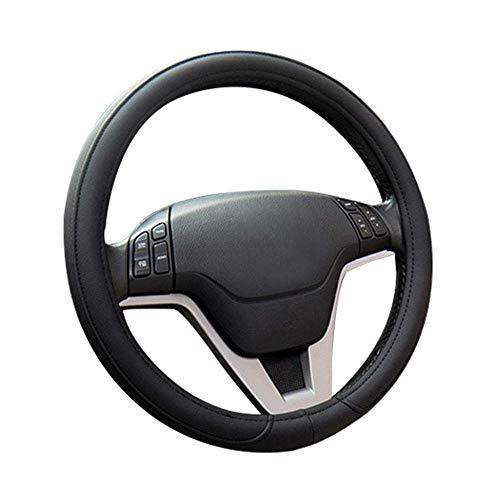 VOYAGO Housse de volant de voiture universelle antidérapante en cuir PU microfibre Noir