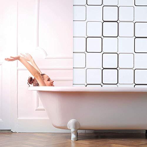 Duschvorhang aus Polyester Parkarma Duschvorhang Polyester Waschbar mit 12 Duschringen 180 x 200 cm PEVA Frühling Duschvorhang für Wohnheim/ Familie/Apartment/Hotel