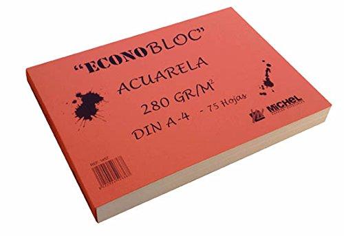 Econobloc acuarela Michel 280g - 20x20cm - 75 hojas