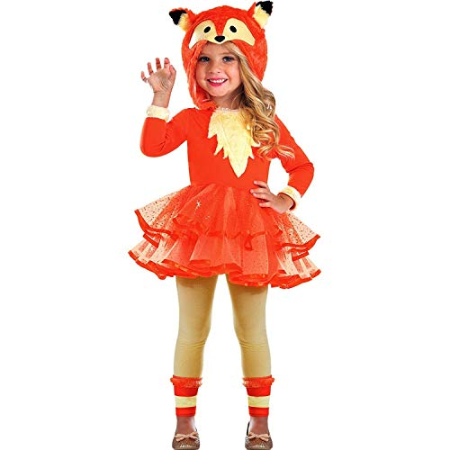 Fuchs Tier Kostüm Kinder Mädchen Amscan