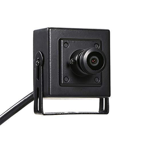 HD POE Mini IP Kamera Überwachung - Revotech® - H.265 3MP 2MP 1080P 1.44mm Fisheye Panorama Innen Sicherheit Kamera ONVIF P2P CCTV Kamera System(I706-4-P Schwarz)