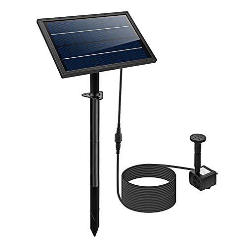 Lewisia 8W Solar Fountain Pump for Pool Koi Pond Pot Bird Bath Garden Decoration Solar Powered Submersible Water Pump Kit