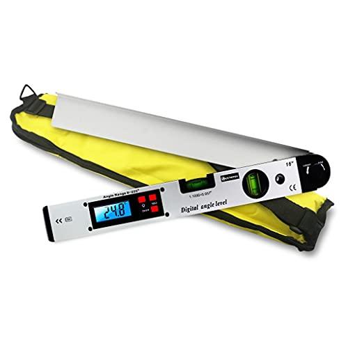 GFDFD Goniómetro Digital Transportador electrónico Inclinómetro de 225 Grados Regla de ángulo 400mm Nivel de Burbuja Medición de Nivel de construcción