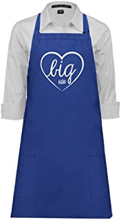 CollegeFanGear Kappa Alpha Theta Full Length Royal Apron 'Big in Heart'
