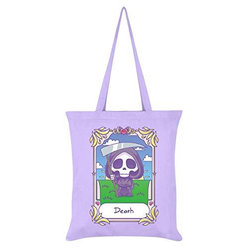 Deadly Tarot Kawaii Death - Bolso de mano, color lila
