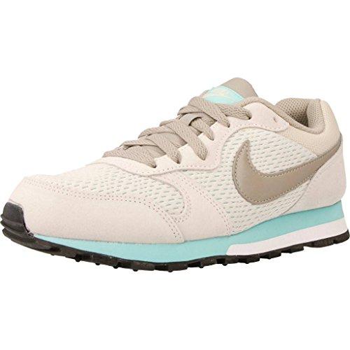 Nike Men's MD Runner 2 Trainers, Grey (Light Orewood Brown/Cobblestone-Aurora Green), 4 UK 37.5 EU