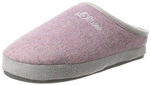 s.Oliver Unisex-Kinder 47100 Pantoffeln, Pink (Rose), 34 EU