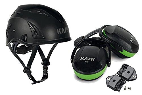 Kask Industriehelm Plasma AQ schwarz im Set mit Gehörschutz