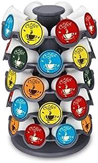 Larew Porte Capsules Distributeur Présentoir Rotatif Supports pour Capsules de Café Capsules Rotatif Compatible Porte Caps...