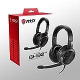 MSI Immerse GH30 V2 Auriculares Gaming Plegables, con Micrófono, Ligeros, Color Negro