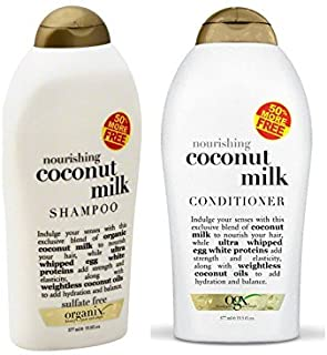 Organix: Nourishing Coconut Milk Shampoo + Conditioner (Combo Pack) (19.5 OUNCE SET)