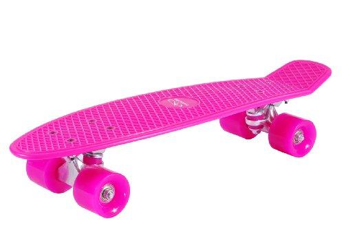 HUDORA Unisex - Kinder 12135 Retro Skateboard, pink