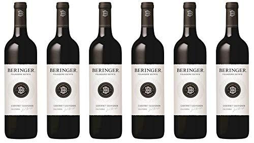 6x Beringer Founders` Estate Cabernet Sauvignon 2017 - Weingut Beringer Vineyards, California - Rotwein