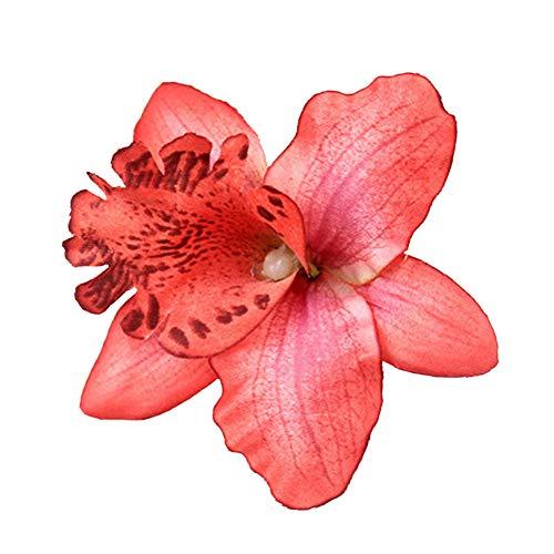 Decoración de la cabeza de flores artificiales,tela tailandesa orquídea boda novia pinza de pelo broche de artesanía