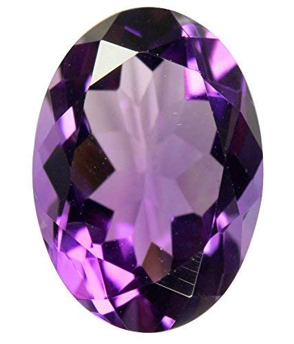 PRAJAPATI GEMS Certified Unheated Untreated 6.25 Ratti 5.62 Carat A+ Quality Natural Amethyst Loose Gemstone for Men and Women