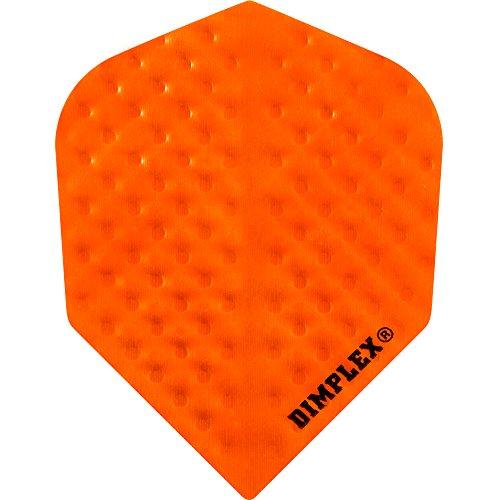 Harrows Dimplex geprägte Dart-Flights, 75 Mikron, Standard, Orange, 1 Set (3 Stück)
