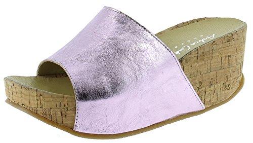 Andrea Conti Damen Keil Pantolette 1673406, Größe:41 EU, Farbe:pink