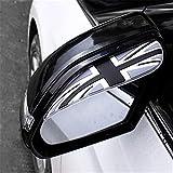 Espejo retrovisor de coche de PVC flexible universal, protector de sombra de cejas para lluvia, cuchillas a prueba de lluvia, visera para el sol, cubierta para lluvia, accesorios para coche, 2 piezas