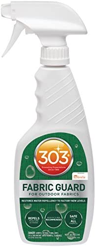 303 Fabric Guard - For Outdoor Fabrics - Restores Water Repellency To Factory New Levels - Repels Moisture And Stains - Manufacturer Recommended - Safe For All Fabrics, 16 fl. oz. (30605CSR)