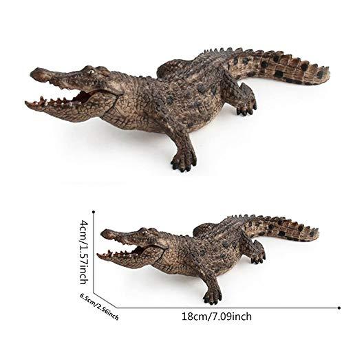 Hearthrousy Krokodil Figur Gartendeko Gartenfiguren für außen Gartenfiguren Kaiman Reptil Dekofigur Schwimmtier Krokodil für Terrasse oder Wohnung