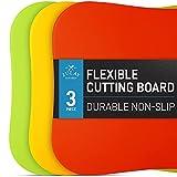 Zulay Kitchen Non-Slip Flexible Cutting Board - Dishwasher Friendly...