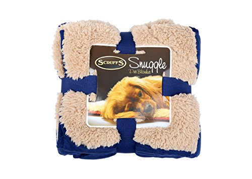 Scruffs Pet Dog Snuggle Comfort Blanket Duvet Reversible Design In 3 Colours (Blue)