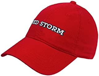 CollegeFanGear St. Johns Red Twill Unstructured Low Profile Hat 'Red Storm'