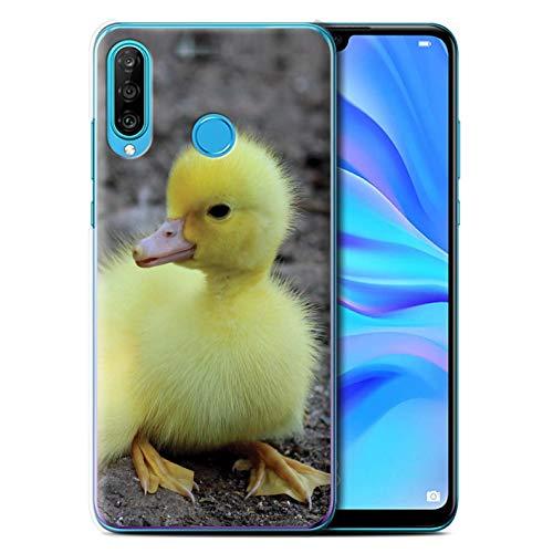 eSwish Hülle/Hülle für Huawei P30 Lite 2019 / Entlein/Ente Muster/Niedlich Haustiere Kollektion