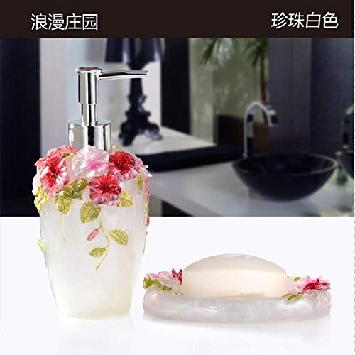 CZOOR Automatische Tandpasta Dispenser Badkamer Set Europese Tuin Suite Twee Sets Van Hoogwaardige Wassen Fles Van Hand Vloeibare Zeep Doos