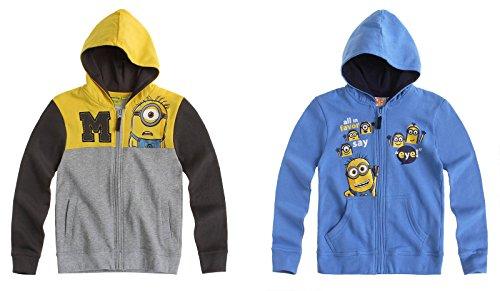 Minions Sweatshirt mit Kapuze - grau - 152