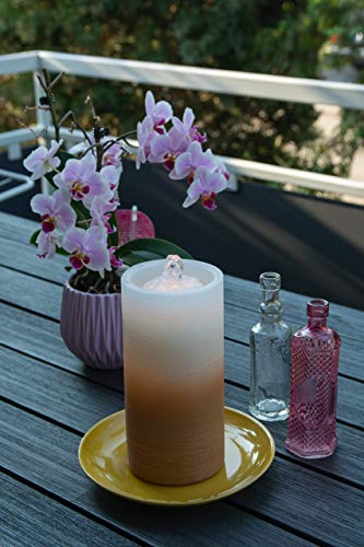 LED Kerze mit Springbrunnen, braun