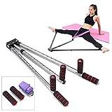 Máquina de extensión de piernas oofay, máquina de estiramiento dividida, longitud ajustable de 6 agujeros, estiramiento de piernas, utilizado para ballet, yoga, herramienta de flexibilidad elástica