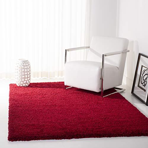Safavieh California Premium Shag Collection SG151-4040 Red Area Rug (4' x 6')