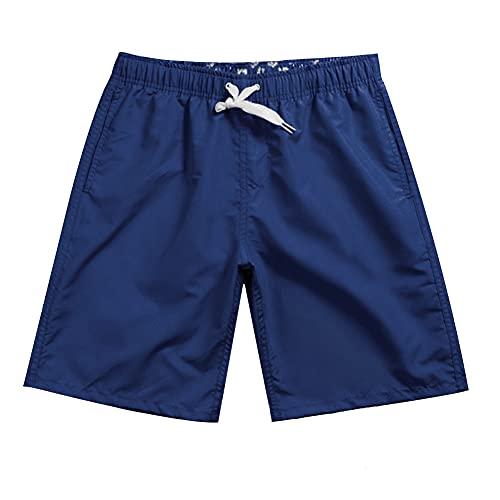 Meioro Trajes de Baño Hombre Bañador para Hombres Pantalones Corto Deporte Bermudas Secado Rápido Hombre Bóxers Playa Shorts Color Sólido