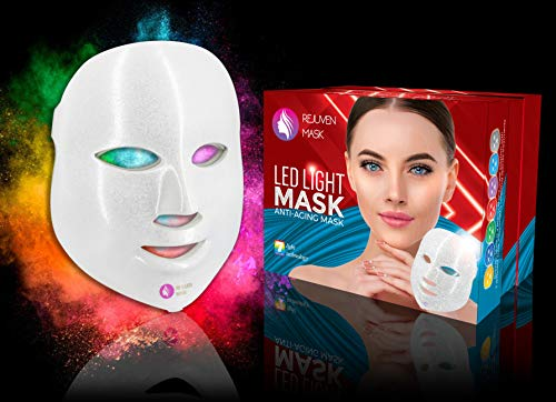 Rejuven Mask Pro 7 Color LED Light Therapy Mask for Anti-aging, Improve Wrinkles and Smoother Skin