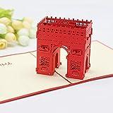 Biglietto di auguri Arco dell'Arco di Trionfo 3D