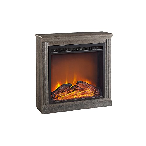 Ameriwood Home Bruxton Electric Fireplace, Medium Brown