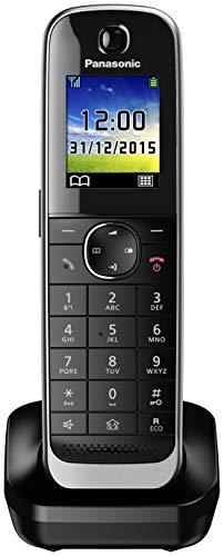 Panasonic KX-TFJA30 - Teléfono supletorio digital (LCD color, agenda de 250 números, bloqueo de llamadas, modo ECO Plus, modo no molestar), Negro, TGJ31 Supletorio