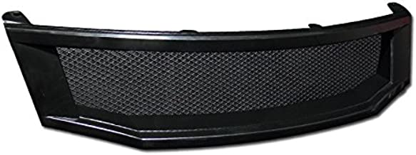 R&L Racing Black Aluminum Mesh Front Hood Bumper Grill Grille Cover Abs 08-10 Accord 4D 4Dr