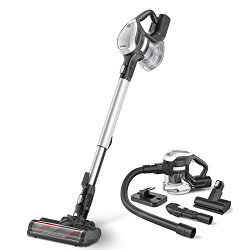 MOOSOO Cordless Vacuum Cleaner, 250W Upgrade Motor 6-in-1 Stick Vacuum with 1.3L Large Capacity for Hard Floor Carpet Car Pet Lightweight