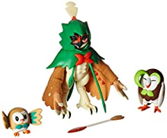 Set includes 3 in-scale figures from Rowlet's evolutions Evolutions include: Rowlet, Dartrix and Decidueye Also includes Decidueye's dedicated Z-Crystal, compatible with the Z-Ring (sold separately) Gotta Catch 'Em All! Suitable for ages 4 years and ...