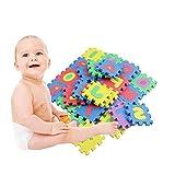 Yunt 36 unids Espuma Alfombras de Piso para Niños Alfanuméricos Rastreo Bebé Rompecabezas Kinderen Alfabet