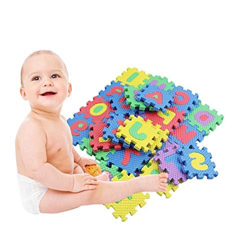 circulor-123 Alfombra Puzle Niños Colchoneta Suave Juego Rompecabezas para Niños Letras Alfabeto Goma Espuma Alfombrilla De Juego para Bebe Infantil Área De Cobertura